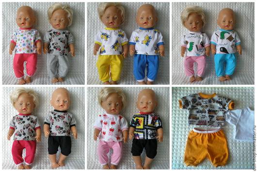 Одежда для кукол ручной работы. Ярмарка Мастеров - ручная работа. Купить Одежда для куклы. Футболка и лосины. Handmade. Baby born