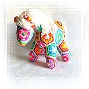 Куклы и игрушки ручной работы. Ярмарка Мастеров - ручная работа Лошадка игрушка вязаная. Handmade.