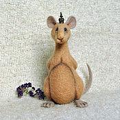 Куклы и игрушки ручной работы. Ярмарка Мастеров - ручная работа игрушка валяная из шерсти Крысиный Царь. Handmade.