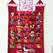 Куклы и игрушки ручной работы. Ярмарка Мастеров - ручная работа Плакат - Алфавит с МУЛЬТЯШКАМИ (синий). Handmade.