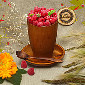Посуда handmade. Livemaster - original item Tea set made of Cedar (Cup, saucer and spoon) #NC1. Handmade.