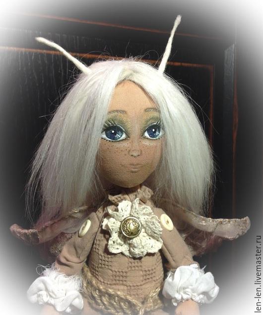 Коллекционные куклы ручной работы. Ярмарка Мастеров - ручная работа. Купить Элиза, моль из старого платяного шкафа.. Handmade. Бежевый
