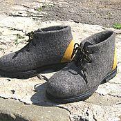 Обувь ручной работы. Ярмарка Мастеров - ручная работа Зимние валяные ботинки, 44.5 размер в наличии.. Handmade.