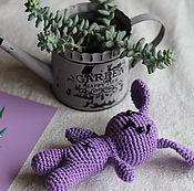 Куклы и игрушки handmade. Livemaster - original item Lilac puppy. Handmade.
