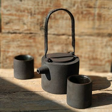 """Посуда ручной работы. Ярмарка Мастеров - ручная работа Чайный набор """"простые вещи"""" для двоих.. Handmade."""