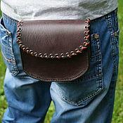 Сумки и аксессуары handmade. Livemaster - original item Belt bag made of genuine leather. Handmade.