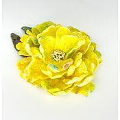 Украшения handmade. Livemaster - original item Decoration Flower Brooch Accessory Yellow. A ray of sunshine. Handmade.