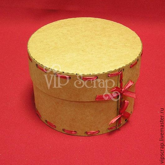 Упаковка ручной работы. Ярмарка Мастеров - ручная работа. Купить Коробка круглая из крафт-картона. Handmade. Коробка крафт, коробки
