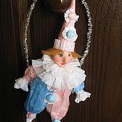 Куклы и игрушки ручной работы. Ярмарка Мастеров - ручная работа Клоун из ваты и бумаги тишью. Handmade.
