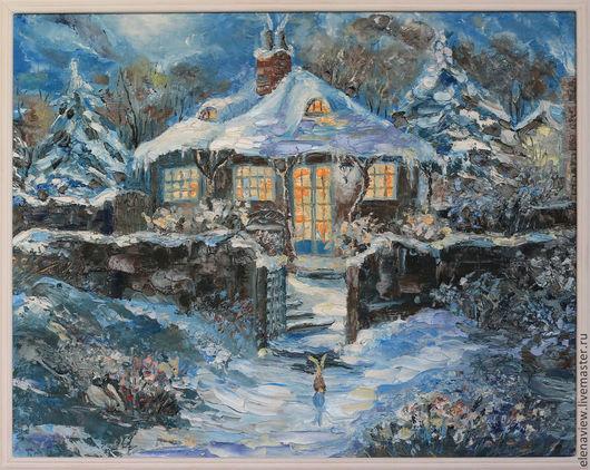 Пейзаж ручной работы. Ярмарка Мастеров - ручная работа. Купить Зимняя сказка. Handmade. Живопись, в подарок, купить в москве, холст