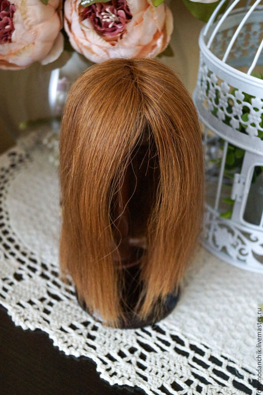 Винтажные куклы и игрушки. Ярмарка Мастеров - ручная работа. Купить Антикварный парик для куклы из натуральных волос (ОГ 27см). Handmade.