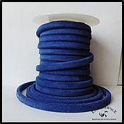 Материалы для творчества ручной работы. Ярмарка Мастеров - ручная работа Шнур регализ замшевый синий Испания. Handmade.