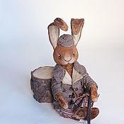 Куклы и игрушки ручной работы. Ярмарка Мастеров - ручная работа Лаврик зайка хулиган. Handmade.