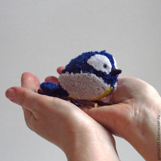 Игрушки животные, ручной работы. Ярмарка Мастеров - ручная работа. Купить Птичка синичка - красивая мягкая игрушка.. Handmade.