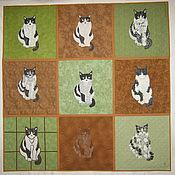 """Картины и панно ручной работы. Ярмарка Мастеров - ручная работа """"У кошки девять жизней"""". Handmade."""