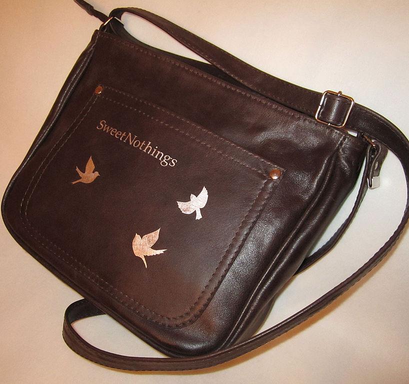 Сумка Темно-коричневая небольшая, Классическая сумка, Коимбра,  Фото №1