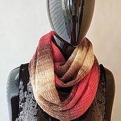 Аксессуары handmade. Livemaster - original item Mohair Snood in two turns Red with lurex. Handmade.