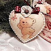 """Подарки к праздникам ручной работы. Ярмарка Мастеров - ручная работа Новогодние украшения """"Мишутка"""". Handmade."""
