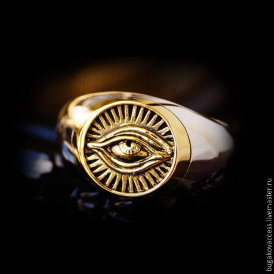 All-Seeing Eye Ring of silver 925 and brass jewelry dimensionless, Rings, Moscow,  Фото №1