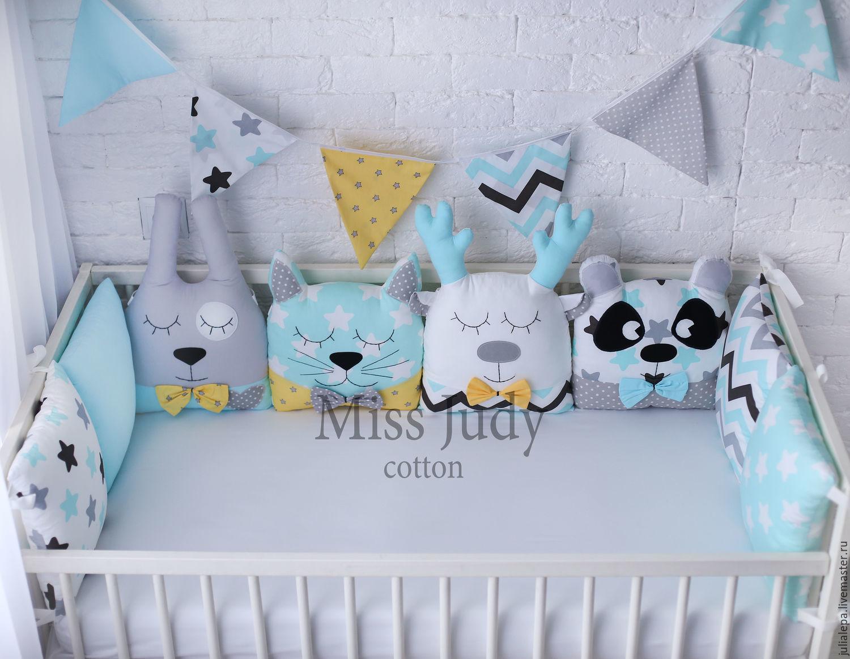 Совушки бортики в кроватку для новорожденных своими руками 56