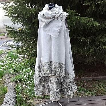 Одежда ручной работы. Ярмарка Мастеров - ручная работа №188 .Льняной комплект. Handmade.