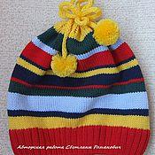 """Работы для детей, ручной работы. Ярмарка Мастеров - ручная работа Мериносовая шапочка для девочки """"Радуга"""". Handmade."""