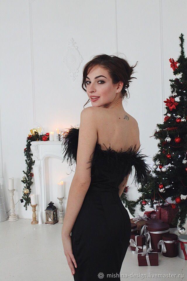 fe8ddea1eb8 Платья ручной работы. Ярмарка Мастеров - ручная работа. Купить Платье с  перьями.