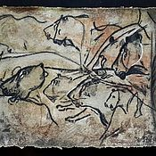 Картины и панно handmade. Livemaster - original item Cave lions. Chauvet. Handmade.