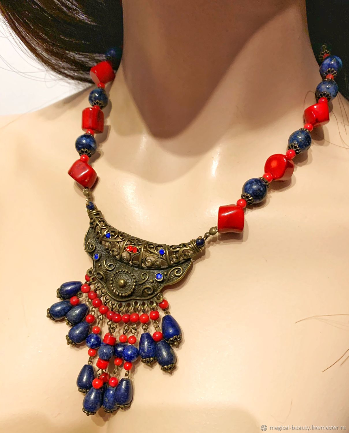 Necklace with coral 'Egypt', Necklace, Moscow,  Фото №1