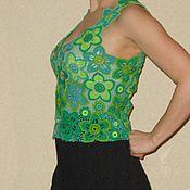 """Одежда ручной работы. Ярмарка Мастеров - ручная работа Топ - жилет """"Хозяйка медной горы"""" - ирландское кружево. Handmade."""
