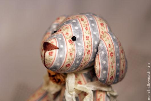 Куклы Тильды ручной работы. Ярмарка Мастеров - ручная работа. Купить Тильда собачка  Розочка винтажная. Handmade. Тильда собака