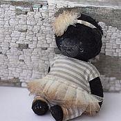 Куклы и игрушки ручной работы. Ярмарка Мастеров - ручная работа Лёка мишка тедди девочка 11см. Handmade.