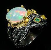 Украшения handmade. Livemaster - original item Ring with natural Ethiopian opal. Handmade.