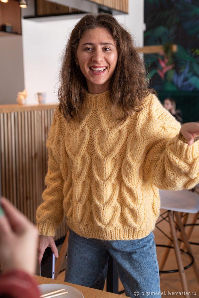 Jerseys: Women's large knit oversize sweater, knitting needles, Sweaters, Yoshkar-Ola,  Фото №1