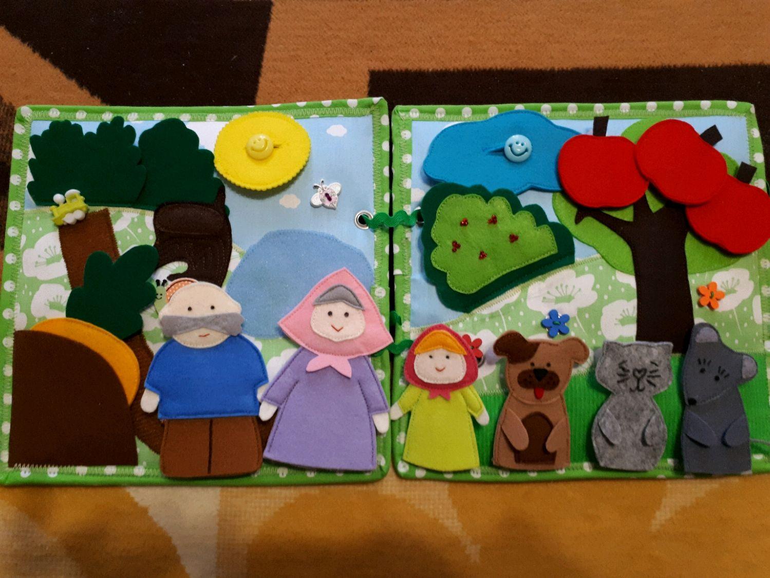 Развивающая книжка-сказка из фетра и ткани, Игрушки, Москва, Фото №1