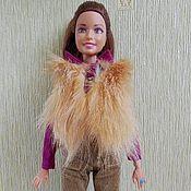 Куклы и игрушки ручной работы. Ярмарка Мастеров - ручная работа Комплект для кукол типа Барби, Лив с меховым жилетом. Handmade.
