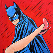 "Одежда ручной работы. Ярмарка Мастеров - ручная работа Футболка ""Бэтмен - такой Бэтмен! ;)) "". Handmade."