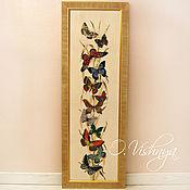 """Картины и панно ручной работы. Ярмарка Мастеров - ручная работа Вышитая картина """"Бабочки"""".. Handmade."""