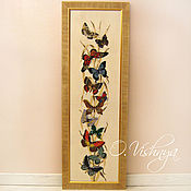 "Картины и панно handmade. Livemaster - original item ""Butterflies"" Embroidered picture.. Handmade."