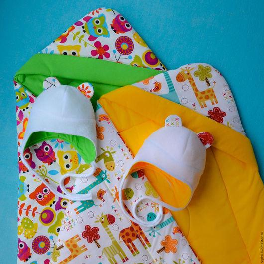 Для новорожденных, ручной работы. Ярмарка Мастеров - ручная работа. Купить Одеяло-конверт. Handmade. Орнамент, прогулка, одеяло на выписку