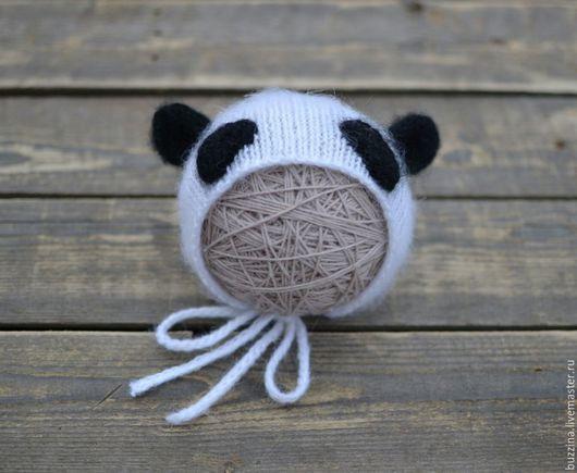 Для новорожденных, ручной работы. Ярмарка Мастеров - ручная работа. Купить Шапочка для фотосессии новорожденных Панда. Handmade. Шапка, чепчик