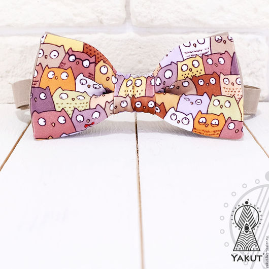 Галстуки, бабочки ручной работы. Ярмарка Мастеров - ручная работа. Купить Галстук бабочка Совята / бабочка-галстук совушки разноцветные. Handmade.
