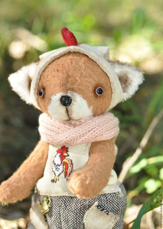 Мишки Тедди ручной работы. Ярмарка Мастеров - ручная работа. Купить Joy (Джой.18 см) Тедди лис петух детство fox ооак малыш. Handmade.
