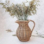 Для дома и интерьера handmade. Livemaster - original item Wicker vase Pitcher. Handmade.