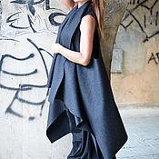 Одежда handmade. Livemaster - original item Cashmere coat. Dark grey coat. coat sleeveless.. Handmade.