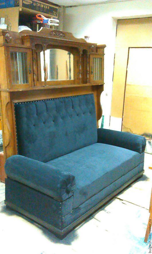 Мебель ручной работы. Ярмарка Мастеров - ручная работа. Купить Диван старинный. Handmade. Синий, старинный стиль, редкий, Дуб