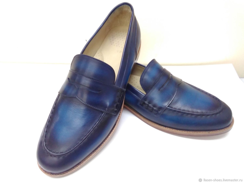 Обувь ручной работы. Ярмарка Мастеров - ручная работа. Купить Лоферы мужские с перемычкой. Handmade. Летняя обувь, лоферы и кожи