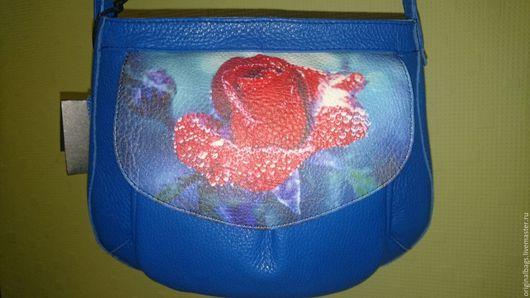 Женские сумки ручной работы. Ярмарка Мастеров - ручная работа. Купить Оригинальная кожаная авторская сумка с принтом. Handmade.
