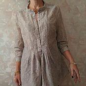 Одежда ручной работы. Ярмарка Мастеров - ручная работа блузка батистовая жемчужный серый. Handmade.