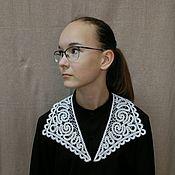 Аксессуары handmade. Livemaster - original item Office collar, white.. Handmade.